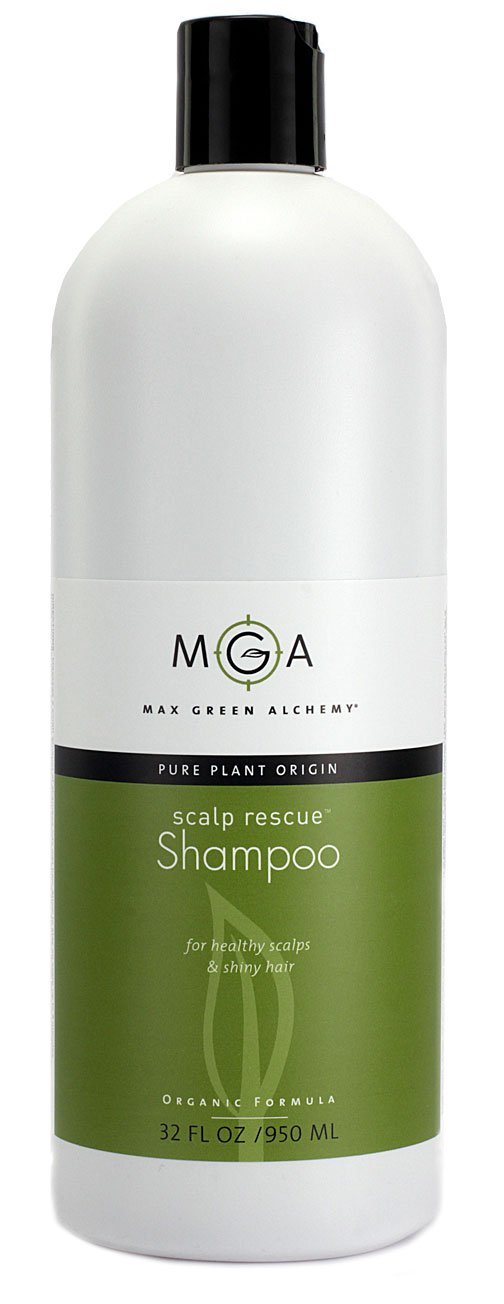 Scalp Rescue Shampoo, 32 fl oz, with Lemon Tea Tree For Healthy & Lustrous Hair. Reduces Itchy Scalp, Dandruff & Frizz. No Parabens, Sulfates, PEGs or Quats. Natural Herbal Scent For All Hair Types