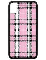 Wildflower Limited Edition Cases for iPhone XR (Pink Plaid)