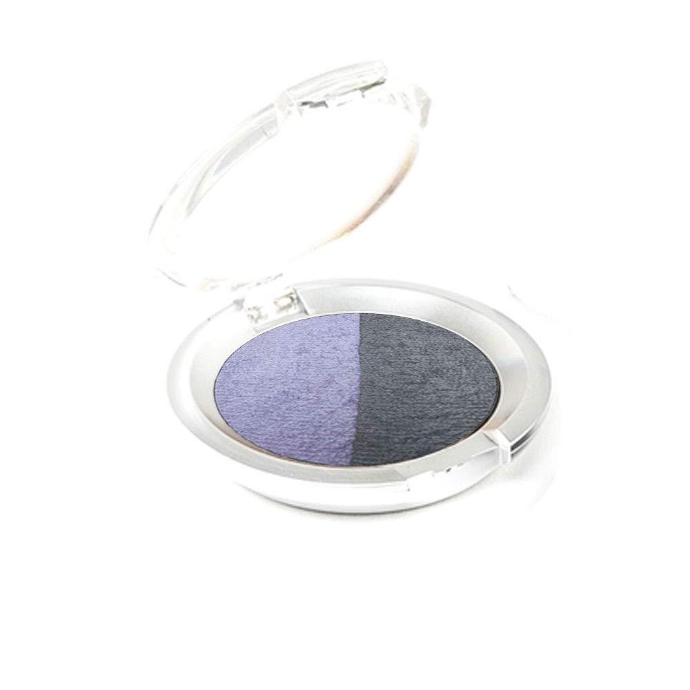 Ageless Derma Creamy Mineral Makeup Baked Eyeshadow Duo-Vegan Eye shadow (Plum-Pale Lavender)