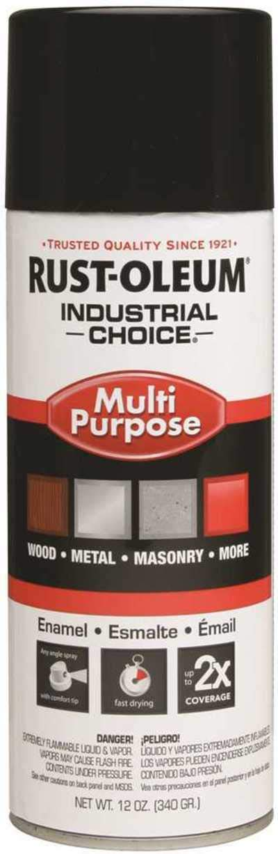 Rust-Oleum 1690830 Flat White 1600 System General Purpose Enamel Spray Paint,16 fl. oz. container, 12 oz. weight fill, Can (Pack of 6)