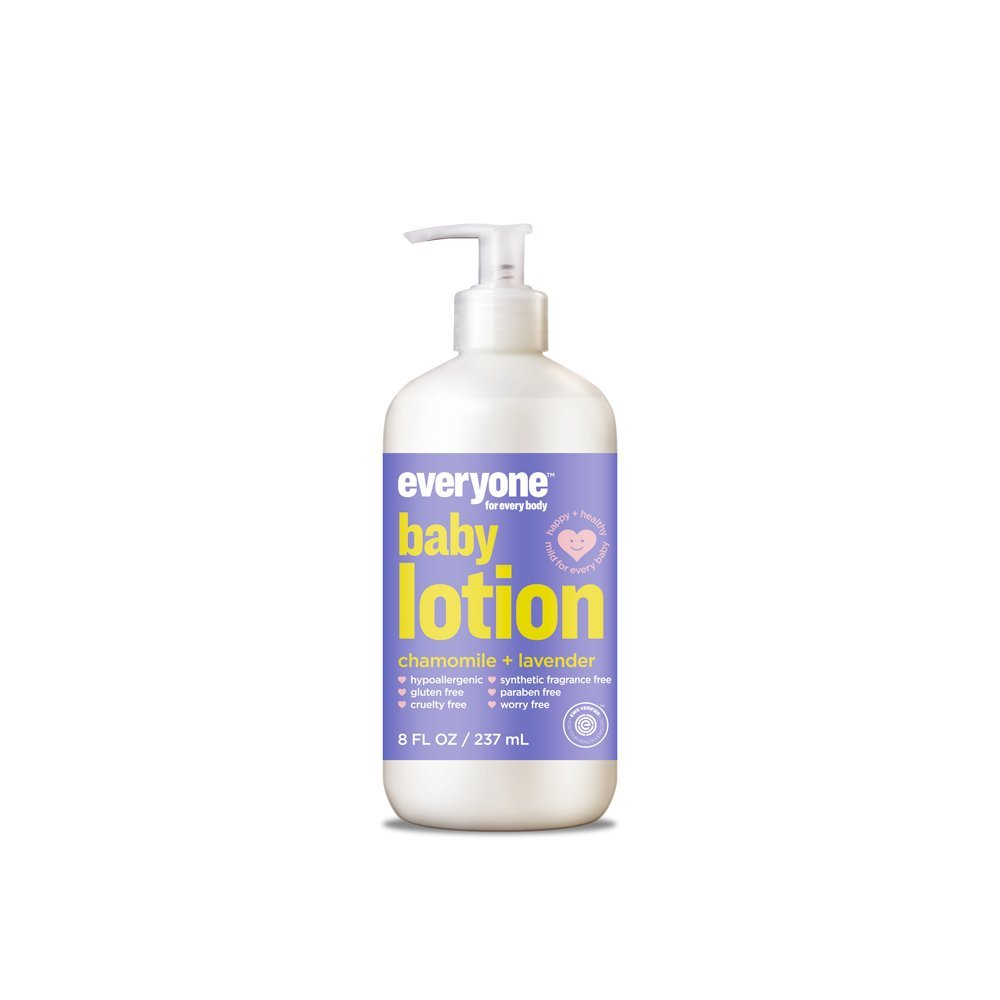 Everyone Hypoallergenic Soft Skin Baby Lotion, Calming Chamomile and Lavender, 8 Ounce, 6 Count