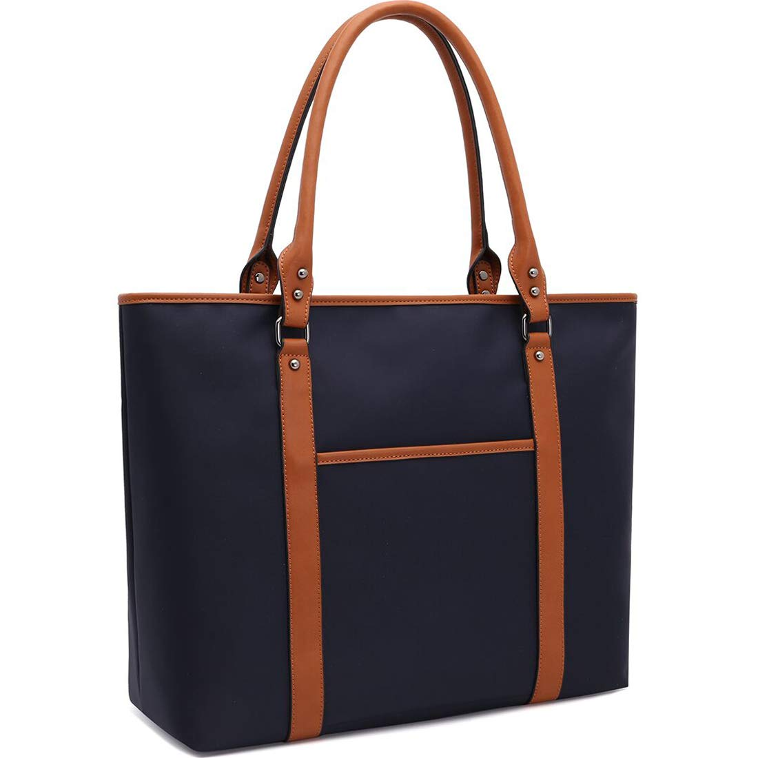 Laptop Bag 15.6 17 Inch Laptop Bag for Women Nylon Work Tote Bag Water-repellent Briefcase Large Teacher Bag Lightweight School Bags for College Students Office Ladies