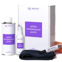 Dry Erase Paint, White Stain Proof Coat, 50 Square feet, Patented White Board Paint, No Mixing Formula with Whiteboard Renew Spray Cleaner