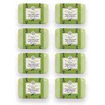 Bisous de Provence French Soap Green Tea   The Vert French Milled Soap enriched with Shea Butter   100% Pure Vegetable Based   Made in France   Paraben Free   7 oz, 200g Soaps (8 Bars)
