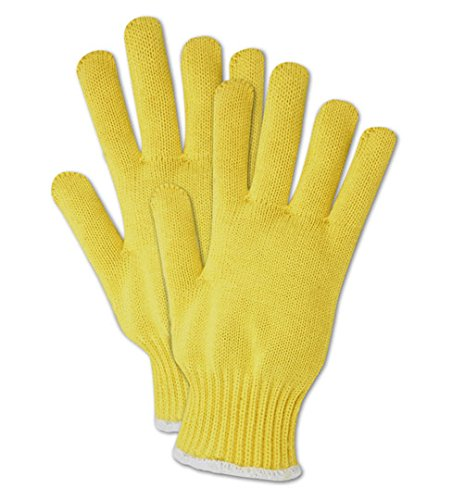 Magid Glove & Safety 593KEV-RB Magid Cut Master 593KEVRB Heavyweight Kevlar Seamless Knit Gloves - Cut Level 4, Men's (Fits Large), Yellow, Men's (Fits Large) (Pack of 12)