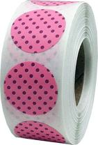 Pink with Dusty Rose Polka Dot Color Coding Labels for Organizing Inventory 0.75 Inch Round Circle Dots 500 Total Adhesive Stickers On A Roll