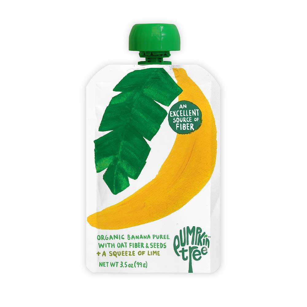 Pumpkin Tree Organics Banana + Fiber + A Squeeze of Lime – 3.5 Ounce  Pouch (Pack of 10)
