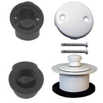 Westbrass Pull & Drain Sch. 40 ABS Plumber's Pack with Two-Hole Elbow, Powder Coat White, D574-50