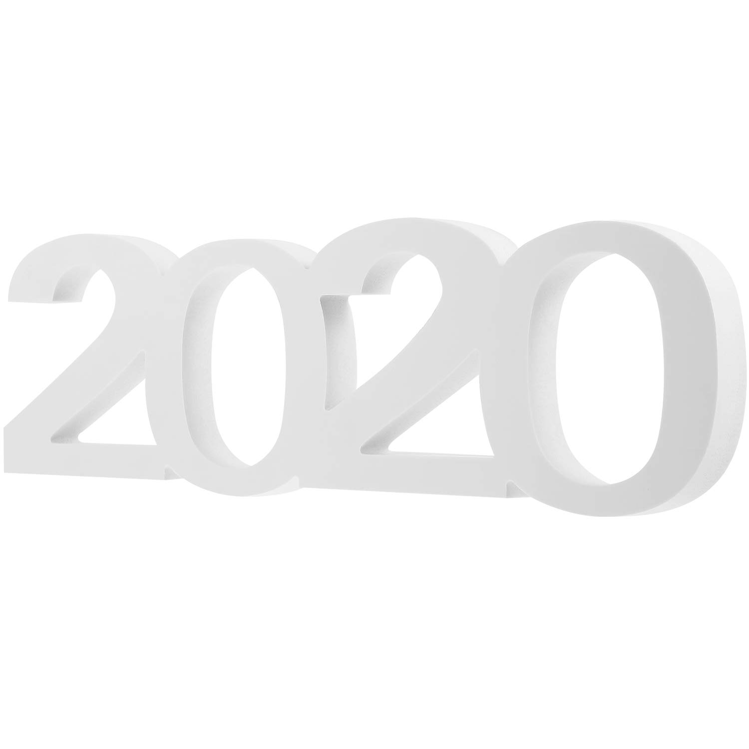 Blulu 2020 Letter Table Sign Class of 2020 Sign New Year Decor for Wedding Graduation Party Decorations (White)