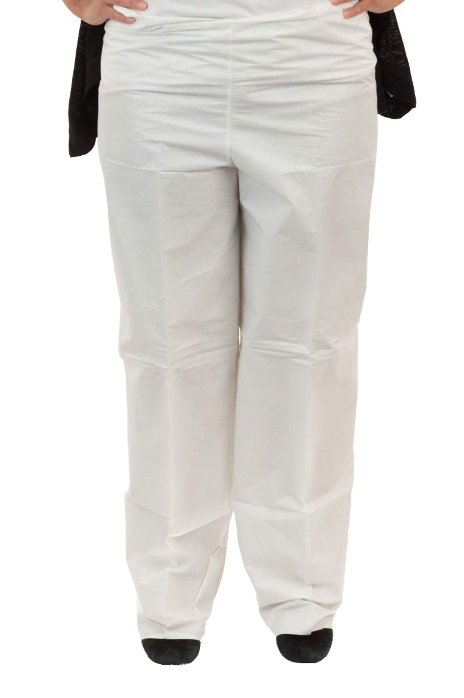 Microguard MP Microporous Pants (White)   Particulate & Splash Protection/Disposable Hazmat Pants with Elastic Waist for Paint and Particulates (Large, Case of 50)