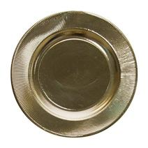 Sophistiplate 245UL2 245UL2-1 Paper Plates, Gold Righe