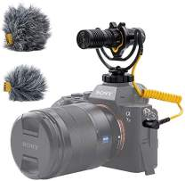 US Stock Deity V-Mic D4 Duo Dual-Capsule Micro Camera-Mount Shotgun Microphone, Dual Mono/Stereo Recording, Plug and Play Mic with Rycote Shockmount for DSLRs, Camcorders, Smartphones