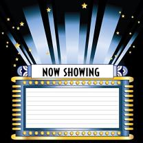 Baocicco Customized Showtime Billboard Frame Backdrop 6x6ft Photography Background Sparkling Star Now Showing Black Night Shining Spotlights Theater Vintage Banner Fashion Show