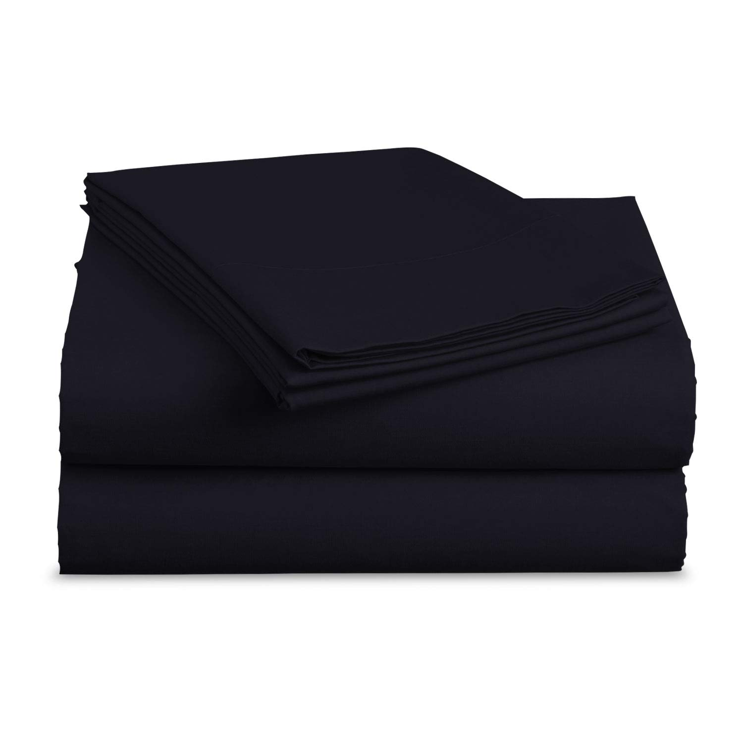 BASIC CHOICE Bed Sheet Set - Brushed Microfiber 2000 Bedding - Wrinkle, Fade, Stain Resistant - Hypoallergenic - 4 Piece (Cal King, Navy)