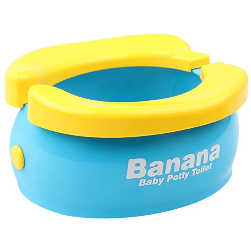 WISHTIME Potty Training Seat - Cute Banana Toilet Seat Trainer Portable Foldable Potty for Kids Boys Girls Children Toddlers