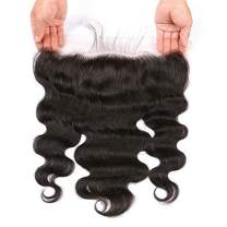 BEEOS HAIR 13x4 Lace Frontal Closure Ear To Ear Free Part Body Wave Human Hair Extensions Full Lace Front Closures With Baby Hair,12 inch