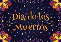 Baocicco Polyester 7x5ft Dia de Los Muertos Backdrop Day of The Dead Photography Background Cartoon Flowers Stars Dots Mexican Festival Fiesta Theme Holiday Party Supplies Banner Decor Photo Props