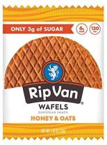 Rip Van Wafels Snack Wafels, Honey and Oats, Pack of 12, 13.92 Ounce