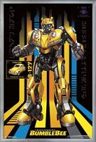 """Trends International Transformers: Bumblebee-127 Wall Poster, 22.375"""" x 34"""", Silver Framed Version"""