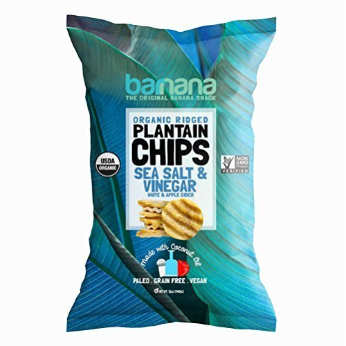 Barnana Organic Plantain Chips - Salt & Vinegar - 5 Ounce - Barnana Salty, Crunchy, Thick Sliced Snack - Best Chip For Your Everyday Life - Cooked in Premium Coconut Oil