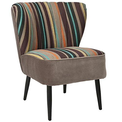 Safavieh Mercer Collection Waverly Mid-Century Rainbow Striped Accent Chair