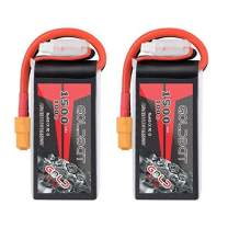 GOLDBAT 1500mAh 3S 11.1V 100C Softcase Lipo Battery Pack with XT60 Plug for Axial Capra, Skylark m4-fpv250, Mini Shredder 200, Qav250, Helicopter Drone and FPV (2 Pack)