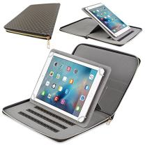 Ipad 9.7 inch Case, PU Leather Cover with 360 Degree Stand Executive Portfolio Zipper Pocket for Apple Ipad 9.7 inch