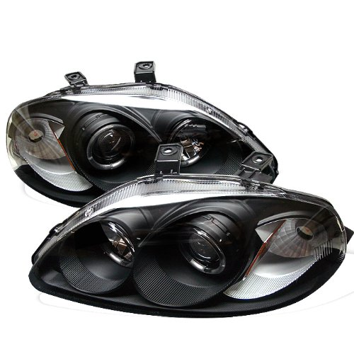 Spyder Auto Honda Civic Black Halogen Projector Headlight