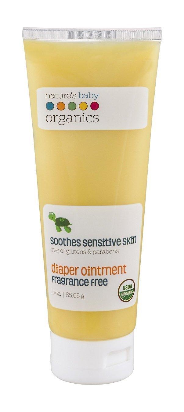 Nature's Baby Organics Diaper Cream, Diaper Rash Cream Soothes Sensitive Skin, 95% Organic Diaper Ointment, 1 Pack