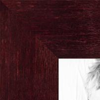 ArtToFrames 10x10 inch Dark Cherry Stain on Hard Maple Wood Picture Frame, WOM0066-71206-YCHY-10x10