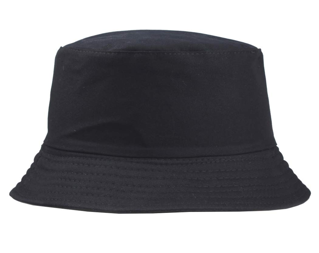 Unisex Cotton Solid Sun-Hat Bucket - Foldable Packable Bucket Cap for Beach and Travel