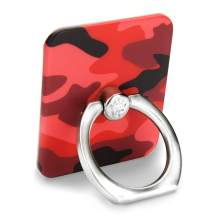 Velvet Caviar Cell Phone Ring Holder - Finger Ring & Stand - Improves Phone Grip Compatible with iPhone, Galaxy and Most Cases (Except Silicone/Leather) - Red Camo