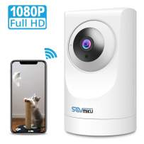 Indoor WiFi Camera SOVMIKU 1080p FHD Home Wireless Security Camera 360 Viewing Indoor Baby pet Monitor with AI Motion Detection/IR Night Vision/PTZ / 2-Way Audio Cloud Storage Work with Alexa