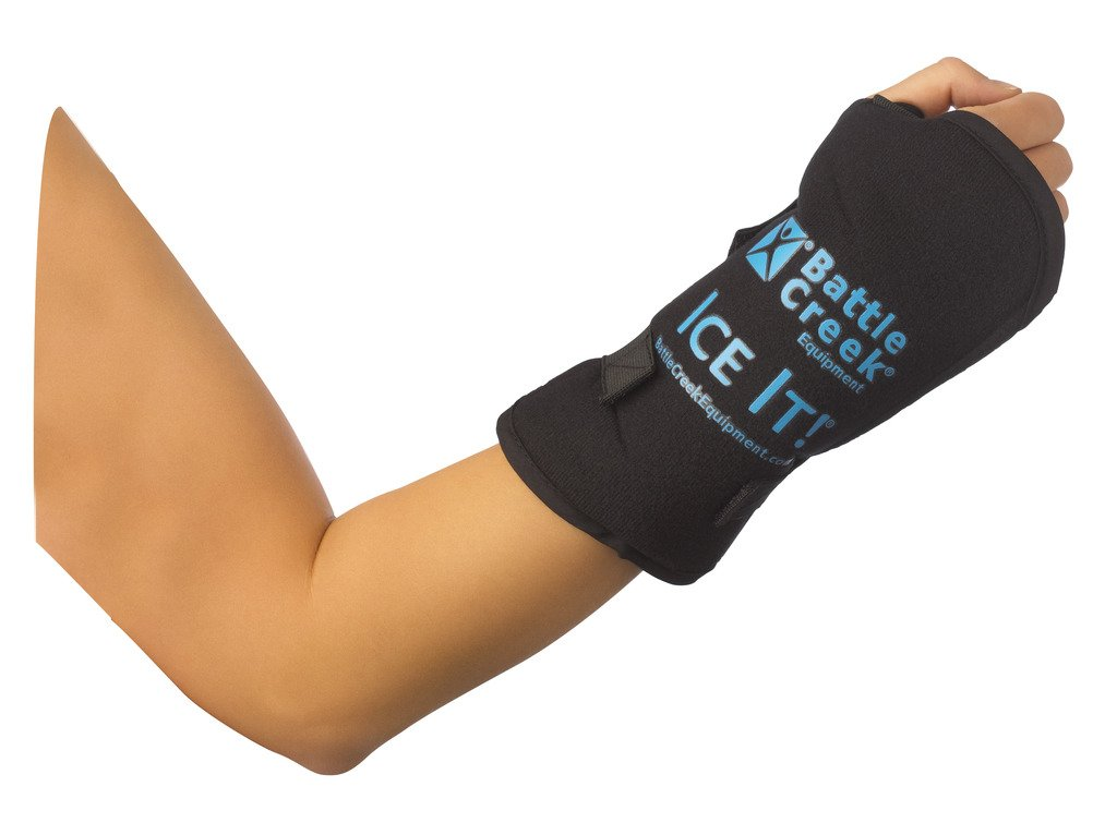 """Cold & Hot Therapy System Ice Pack Wrap for Wrist - Ice It!® MaxCOMFORT™ (Wrist Design; 5"""" x 7"""") - from Battle Creek Equipment, Hot & Cold Therapy Items Since 1931!"""