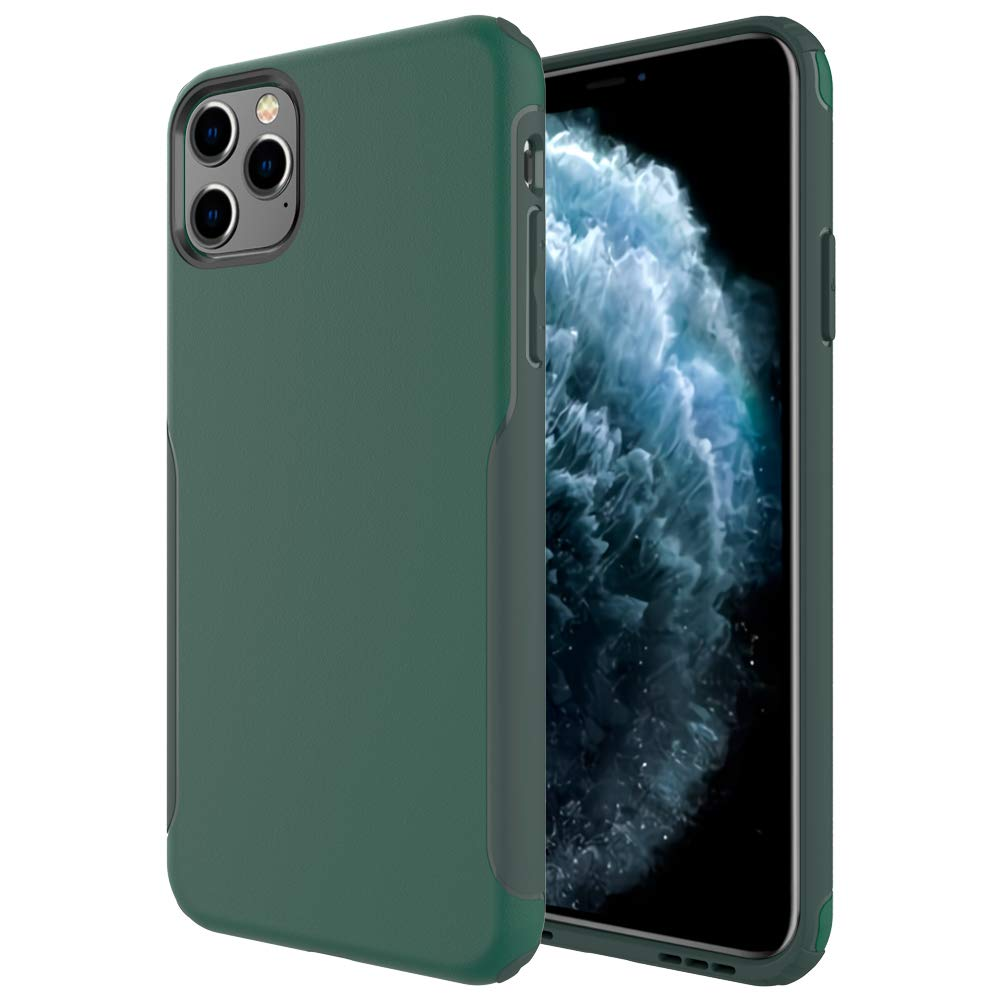 Aoways for iPhone 11 Pro Case 5.8 Inch, Hard Back Cover with Soft Bumper Anti-Scratch, Shock Absorption Lightweight Protective Case for iPhone 11 Pro 2019 5.8 Inch - Olive Green