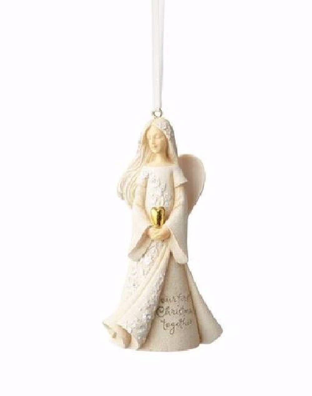 """Foundations First Christmas Together Stone Resin Ornament, 4"""""""