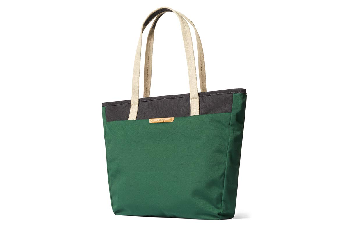 """Bellroy Tokyo Tote, Water-Resistant Woven Tote Bag (13"""" Laptop, Tablet, Notes, Cables, Drink Bottle, Spare Clothes, Everyday Essentials) - Forest"""