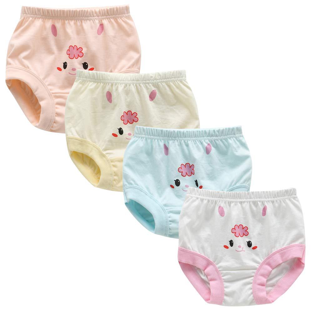Whteian Baby Girls Training Underwear Newborn Infant Training Underpants Toddler Kids Training Pants Briefs 0-4T
