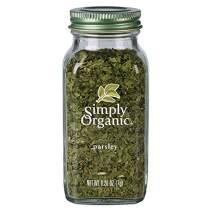 Simply Organic Parsley Flakes, Cut & Sifted, Certified Organic | 0.26 oz | Petroselinum crispum var. neapolitanum