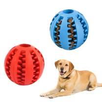 Dog Treat Ball Dog Balls Rubber Pet Ball Holee Roller Balls for Dogs Teeth Ball Dog Giggle Ball for Dogs Pets Dog Toy Ball for Treat Puppy Treat Ball Treat Ball 2pcs