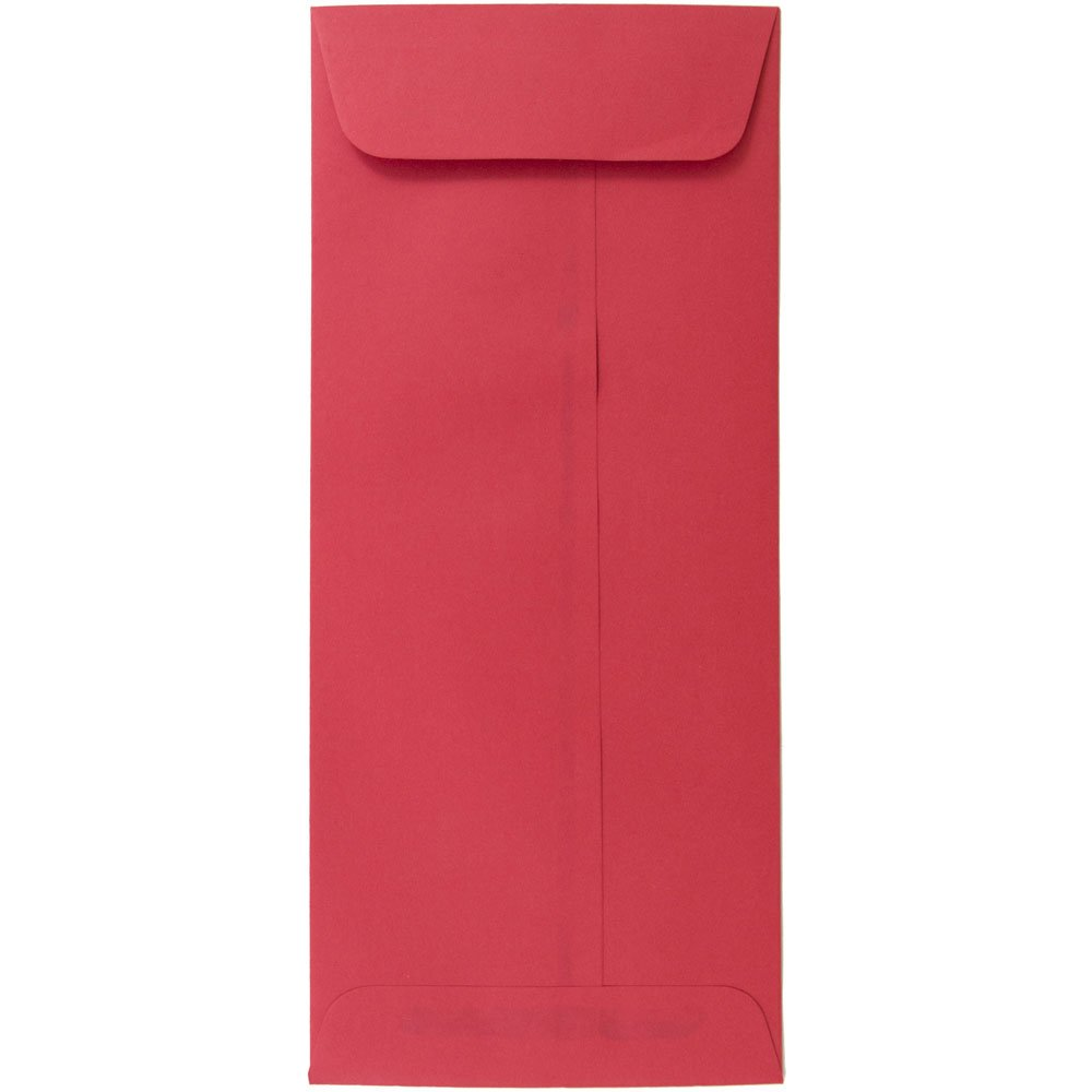 JAM PAPER #10 Policy Business Colored Recycled Envelopes - 4 1/8 x 9 1/2 - Red Recycled - 50/Pack
