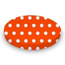 SheetWorld Fitted Oval Crib Sheet (Stokke Sleepi) - Polka Dots Orange - Made In USA