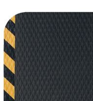 Hog Heaven Industrial-Grade Anti-Fatigue Mat | OSHA Yellow Striped Border | Welding Safe, Slip Resistant, Grease/Oil Proof, Ergonomic 5/8-inch Mat (Black, 3' x 5')