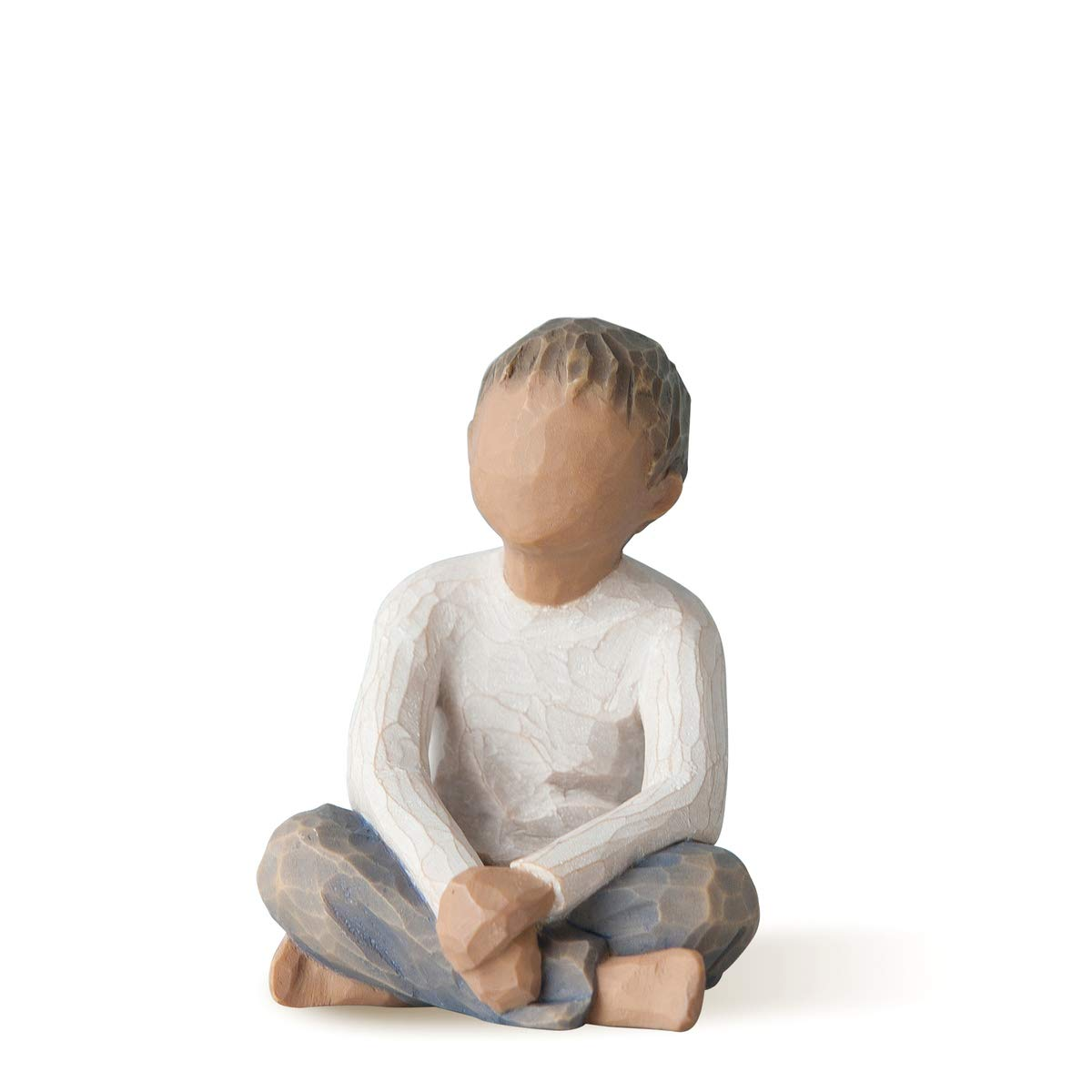 Willow Tree Imaginative Child (Darker Skin Tone & Hair Color), Sculpted Hand-Painted Figure