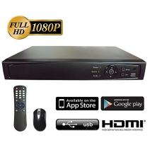 Surveillance 8CH 1080P Full HD 2in1 DVR/NVR, HD-TVI/CVI/AHD/IP, 1TB HDD, HDMI/VGA/BNC Video Out, Cell Phone APPs for Home & Office, Work w/ Both Analog and Network/IP Cam up to 4MP (no PoE)