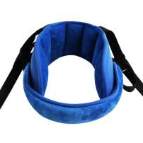 Adjustable Baby Head Support for Car Seat Soft Neck Relief Fit 1-4 Year-Old Toddlers Blue