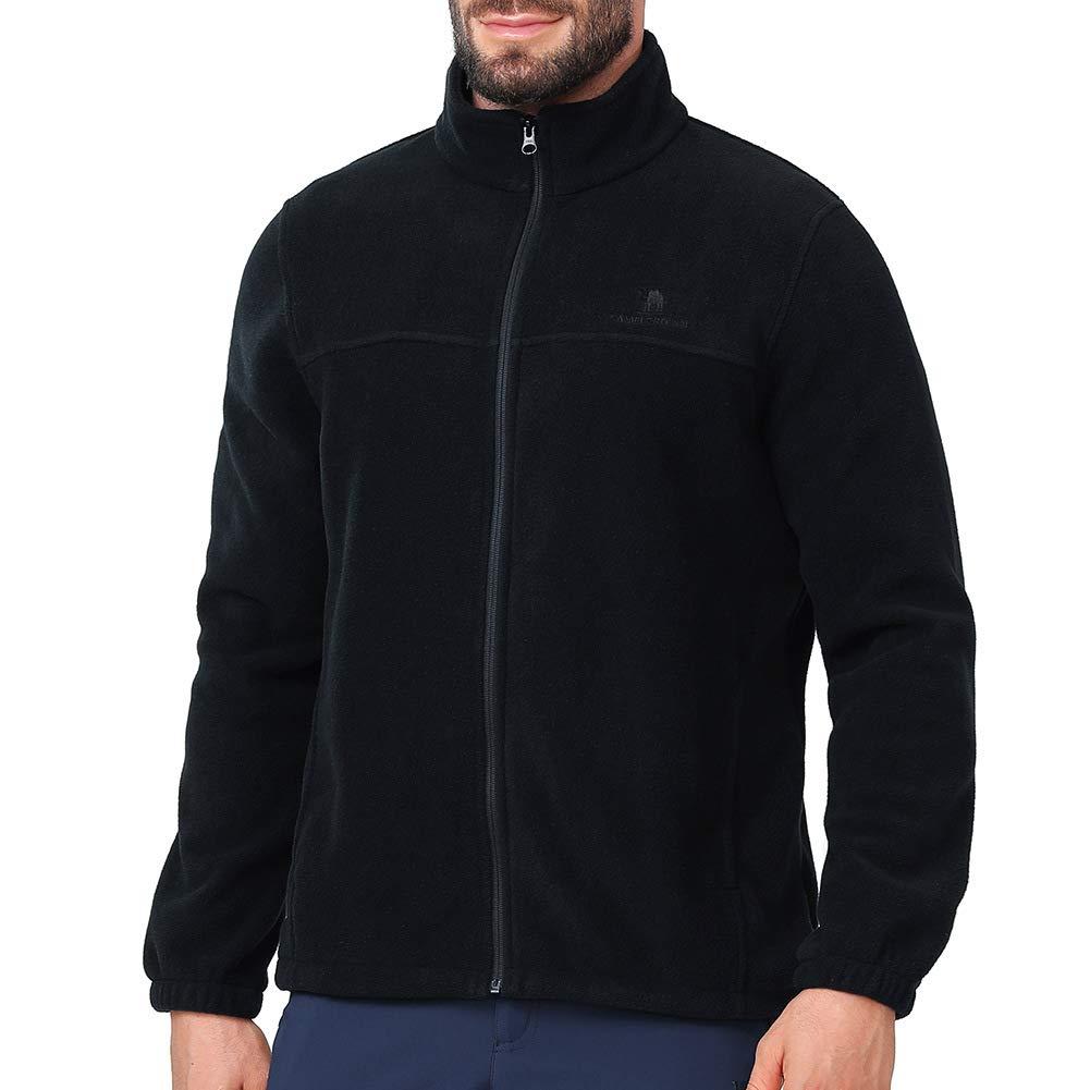 CAMEL CROWN Men Full Zip Fleece Jackets with Pockets Soft Polar Fleece Coat Jacket for Fall Winter Outdoor