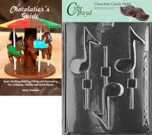 Cybrtrayd Musical Note Lolly Chocolate Candy Mold with Chocolatier's Guide Instructions Book Manual