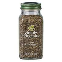Simply Organic Black Pepper, Coarse Grind, Certified Organic, Vegan   2.47 oz   Piper nigrum L.