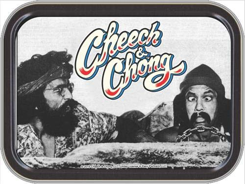 "Stash Tins Cheech & Chong Automobile Storage Container 4.37"" L x 3.5"" W x 1"" H"